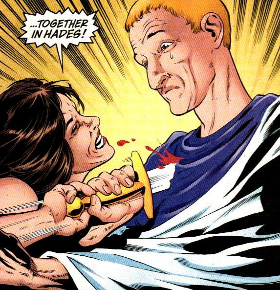 Buzz's wife Valeria stabbing him