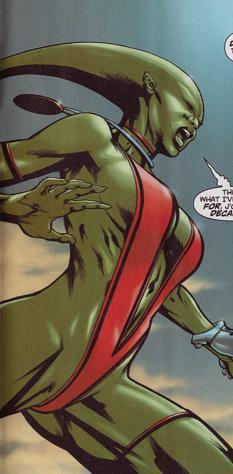 Cay'an's Green Martian Form