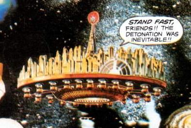 Supertown in space