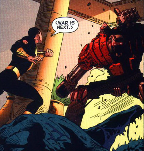 War engages Black Adam...