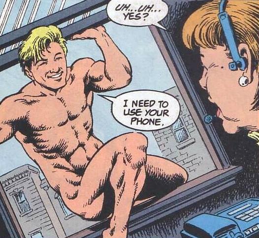 Animal Man Abandoning His More Typical Superhero Image