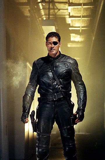 Actor David Hasselhoff as Nick Fury