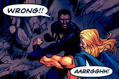 Blue Marvel Battles The Sentry