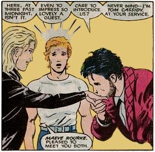 Maeve meeting Black Tom as Sean looks on.