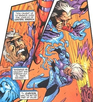 Knocked unconscious by Magneto