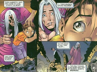 Joseph after killing terrifies the children