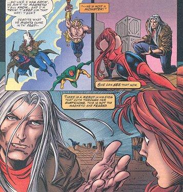 Joseph befriending Scarlet Witch