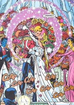 The Wedding of Captain Britain and Meggan.