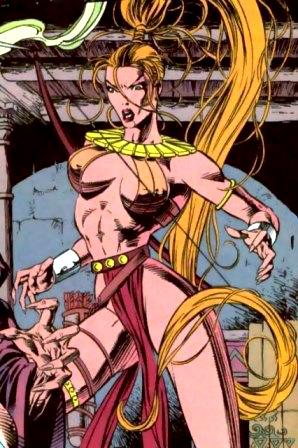 Artemis in traditional Bana Amazon attire