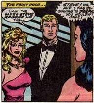 Rachel on a date with Steve Rogers