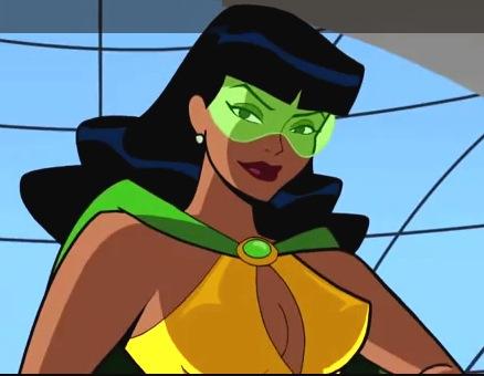 The animated Phantom Lady (Stormy Knight)