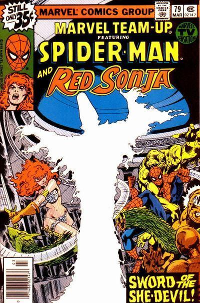 Red Sonja's first team-up with Spider-Man