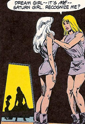 Dream Girl & Saturn Girl imprisoned by Universo