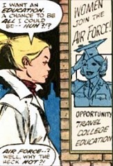 Young Carol wants to join the Air Force