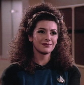Troi in the pilot episode