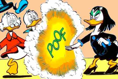 Magica stunning Scrooge and Donald