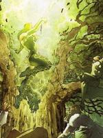 Amora attacking the World Tree