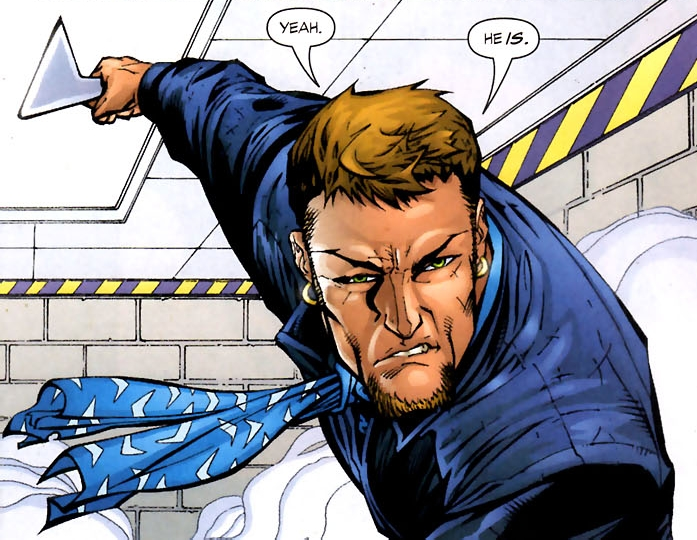 Captain Boomerang has one of those, and a earring.. and a scarf.. *shakes head*