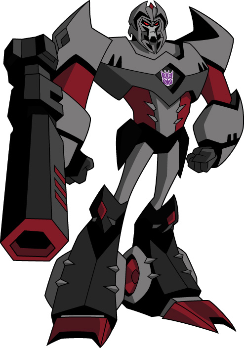 Megatron as he appears in Transformers: Animated in his Cybertronian form.