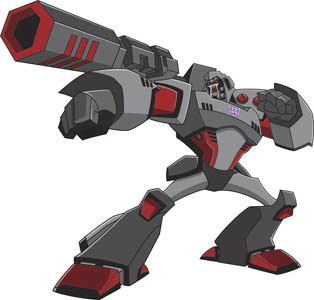 Megatron in his Earth form in Transformers: Animated