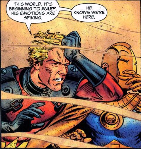 Brainwave & Fate inside Sandman's dream.