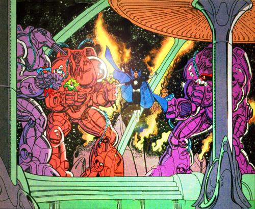 Starbreaker and his Mechanix capture the JLA on Almerac.