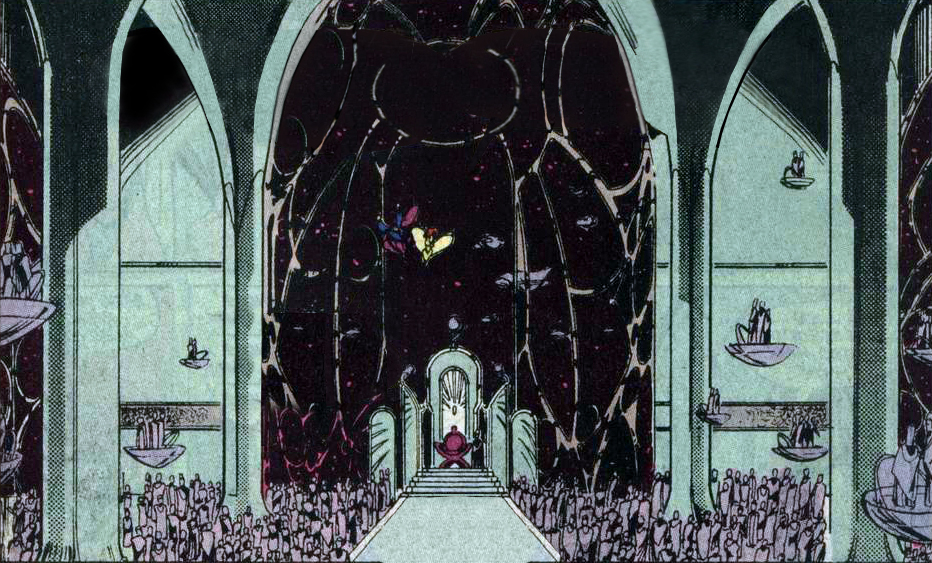 A gathering of the Lords of Almerac in Maxima's throne room.