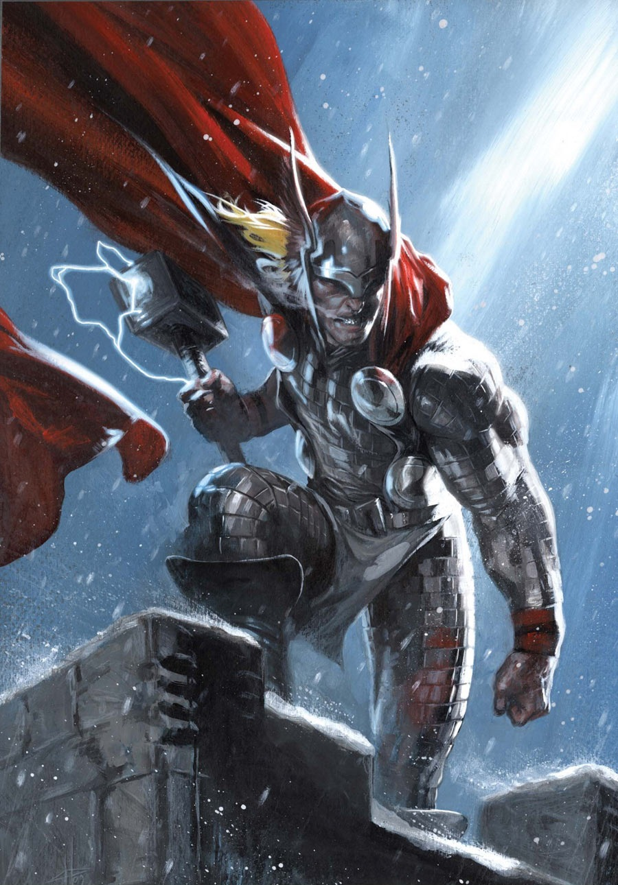 Thor is one of the big guns of marvel a literal god when things get tough he's one of the heroes you call to kick-@ss no matter who's and with him being at an all time high and his hammer holding the Odin Force he can do some serious damage
