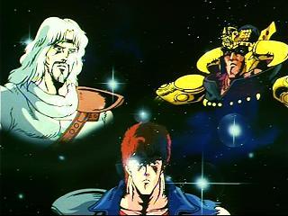 Hokuto's brothers: Toki, Raoh and Kenshiro