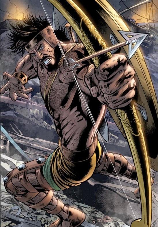 Hercules - Demonstrating archery skills