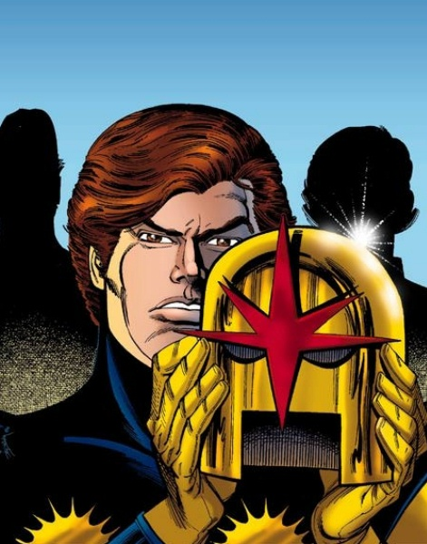 Richard Rider with his Nova Corps helmet.