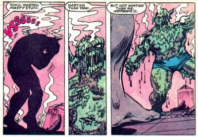 Abomination's body melting after being doused with toxic waste