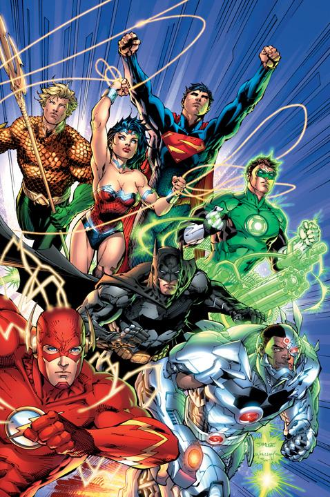 Notice the change in Wonder Woman's lower half of attire
