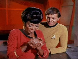 Uhura with Tribble