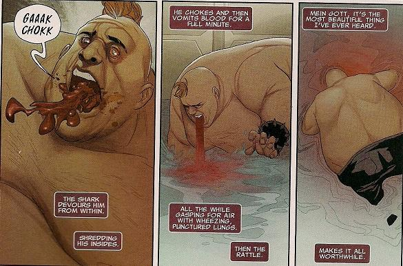 Such a dark and ironic way to end the Blob's life. Bravo, Remender. Bravo.