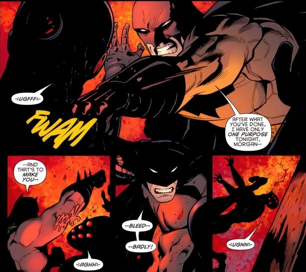 Batman has gone full beast mode.