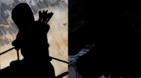 First person to accurately guess both characters gets an e-high five! Oooo! Ahhhh! But really, they'll get a mention in Monday's feature.