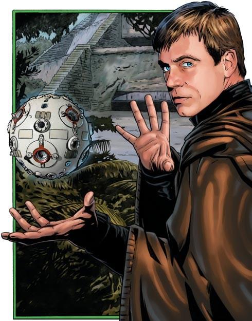 Grandmaster Luke Skywalker in front of the Jedi Praxeum