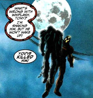Death of Whiplash in Iron Man vol 3 #28