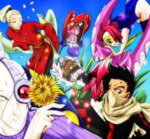 Ayame, Tsubaki, Baigon, Lily, Shun'o, and Hinagiku