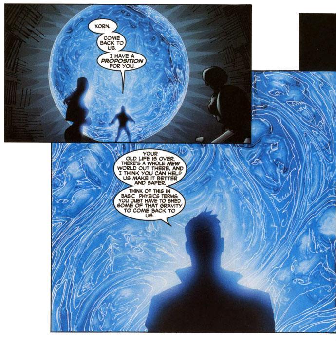 Cyclops speaks to Xorn