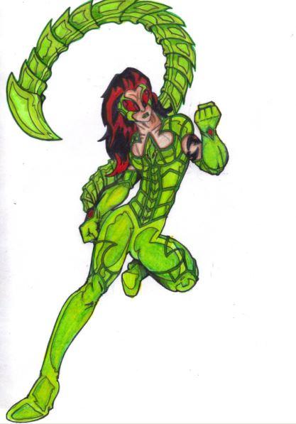 Wonder Woman Queen Hippolyta + Scorpia = The Scorpion Queen