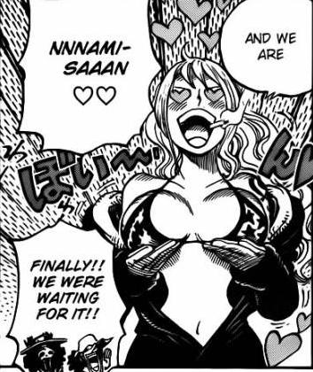 Sanji's mind in Nami's body
