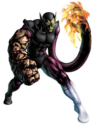 Super-Skrull in Marvel vs. Capcom 3