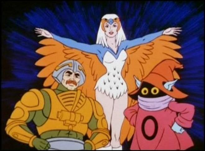 Our friends: The Sorceress, Man-At-Arms and Orko