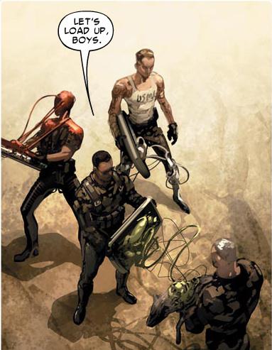 Mercury Team using the symbiotes.