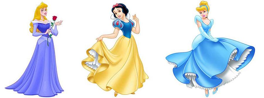 Aurora, Snow White, Cinderella