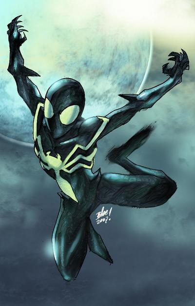Peter Parker as Spider-Venom (here he has not mouth)