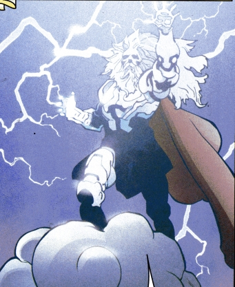 Zeus - Manifesting his mighty Thunderbolts.