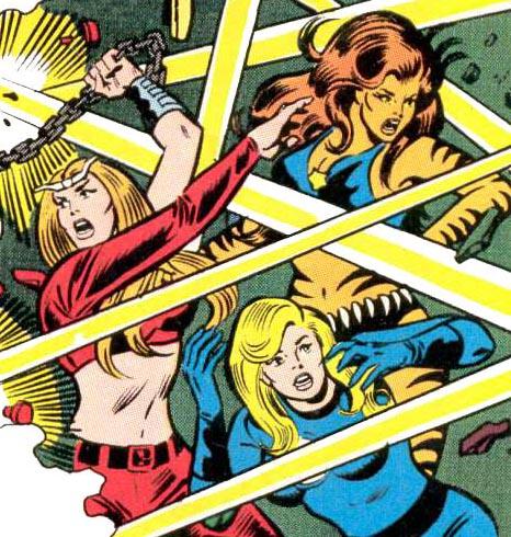 Thundra - aiding the Fantastic Four